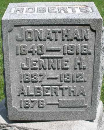 ROBERTS, JONATHAN - Preble County, Ohio | JONATHAN ROBERTS - Ohio Gravestone Photos