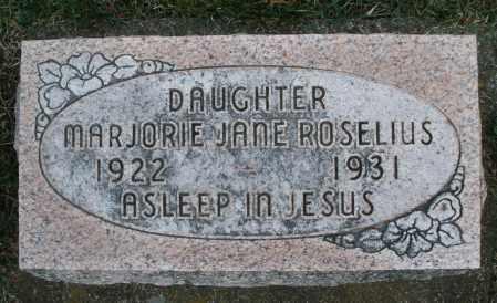 ROSELIUS, MARJORIE JANE - Preble County, Ohio | MARJORIE JANE ROSELIUS - Ohio Gravestone Photos