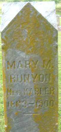 RUNYON, MARY M. - Preble County, Ohio | MARY M. RUNYON - Ohio Gravestone Photos