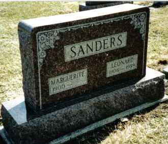 SANDERS, LEONARD - Preble County, Ohio | LEONARD SANDERS - Ohio Gravestone Photos