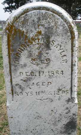 SAYLER, CHRISTIAN - Preble County, Ohio | CHRISTIAN SAYLER - Ohio Gravestone Photos