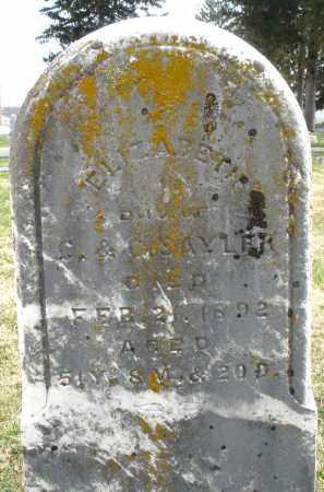 SAYLER, ELIZABETH - Preble County, Ohio | ELIZABETH SAYLER - Ohio Gravestone Photos