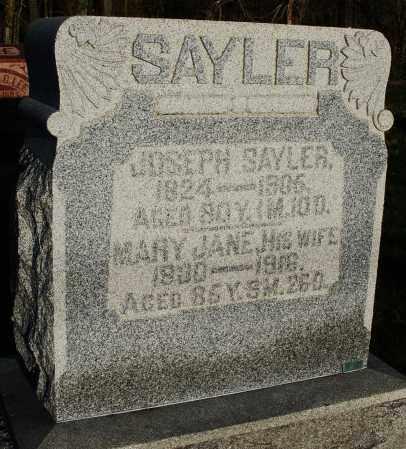 SAYLER, JOSEPH - Preble County, Ohio | JOSEPH SAYLER - Ohio Gravestone Photos