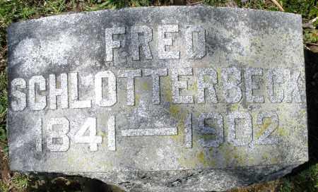 SCHLOTTERBECK, FRED - Preble County, Ohio   FRED SCHLOTTERBECK - Ohio Gravestone Photos