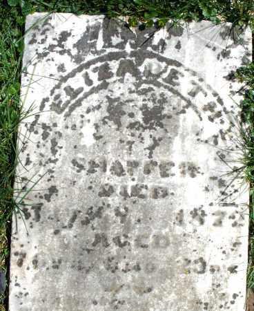 SHAFFER, ELIZABETH - Preble County, Ohio | ELIZABETH SHAFFER - Ohio Gravestone Photos