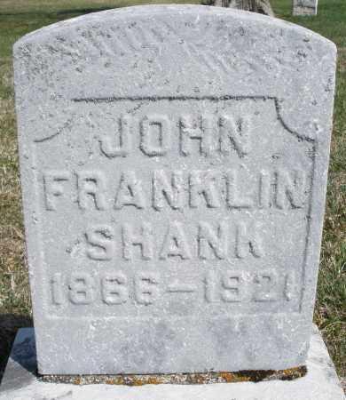 SHANK, JOHN FRANKLIN - Preble County, Ohio   JOHN FRANKLIN SHANK - Ohio Gravestone Photos