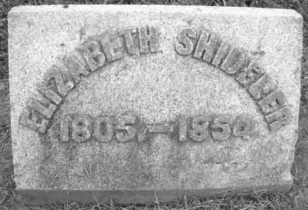 SHIDELER, ELIZABETH - Preble County, Ohio | ELIZABETH SHIDELER - Ohio Gravestone Photos