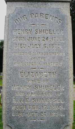 SHIDELER, HENRY - Preble County, Ohio | HENRY SHIDELER - Ohio Gravestone Photos