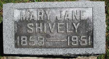 SHIVELY, MARY JANE - Preble County, Ohio   MARY JANE SHIVELY - Ohio Gravestone Photos