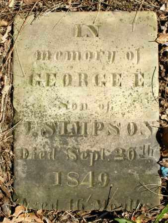 SIMPSON, GEORGE E. - Preble County, Ohio | GEORGE E. SIMPSON - Ohio Gravestone Photos