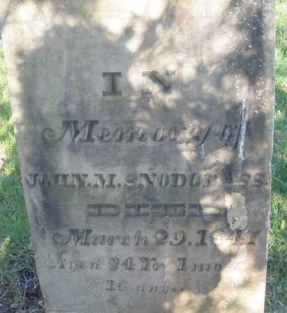 SNODGRASS, JOHN M. - Preble County, Ohio | JOHN M. SNODGRASS - Ohio Gravestone Photos