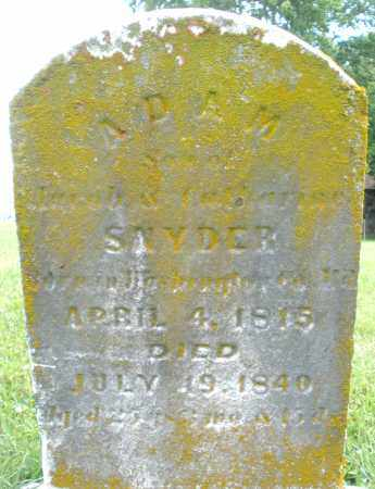 SNYDER, ADAM - Preble County, Ohio | ADAM SNYDER - Ohio Gravestone Photos