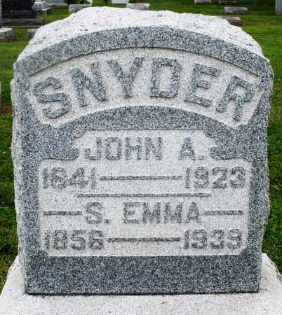SNYDER, S. EMMA - Preble County, Ohio | S. EMMA SNYDER - Ohio Gravestone Photos