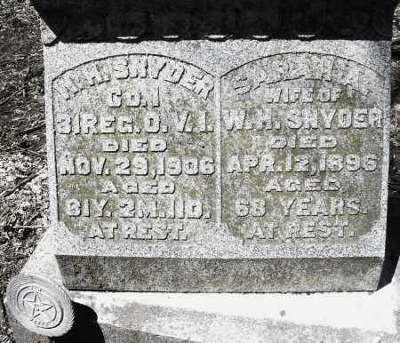 SNYDER, SARAH A. - Preble County, Ohio | SARAH A. SNYDER - Ohio Gravestone Photos