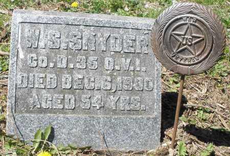 SNYDER, W.S. - Preble County, Ohio | W.S. SNYDER - Ohio Gravestone Photos