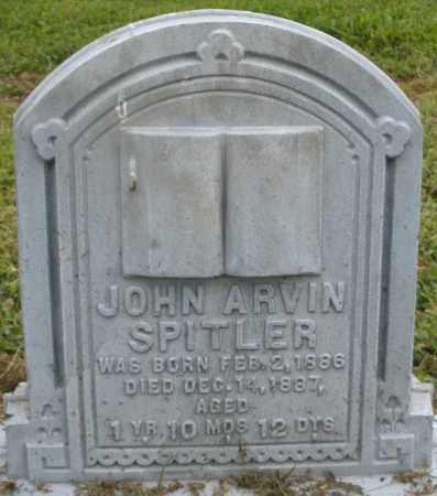 SPITLER, JOHN ARVIN - Preble County, Ohio   JOHN ARVIN SPITLER - Ohio Gravestone Photos