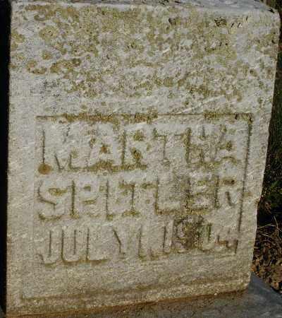SPITLER, MARTHA - Preble County, Ohio | MARTHA SPITLER - Ohio Gravestone Photos