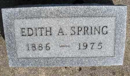 SPRING, EDITH A. - Preble County, Ohio   EDITH A. SPRING - Ohio Gravestone Photos
