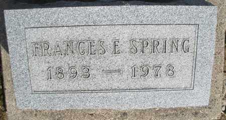 SPRING, FRANCES E. - Preble County, Ohio | FRANCES E. SPRING - Ohio Gravestone Photos