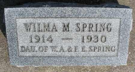 SPRING, WILMA M. - Preble County, Ohio | WILMA M. SPRING - Ohio Gravestone Photos