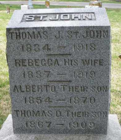 ST. JOHN, ALBERTO - Preble County, Ohio | ALBERTO ST. JOHN - Ohio Gravestone Photos
