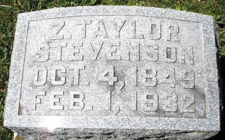 STEVENSON, Z. TAYLOR - Preble County, Ohio | Z. TAYLOR STEVENSON - Ohio Gravestone Photos