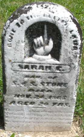 STONE, SARAH - Preble County, Ohio | SARAH STONE - Ohio Gravestone Photos