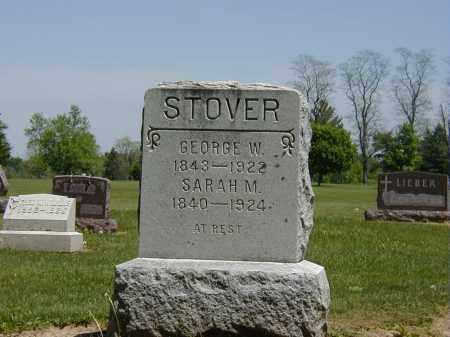 STOVER, SARAH M. - Preble County, Ohio   SARAH M. STOVER - Ohio Gravestone Photos