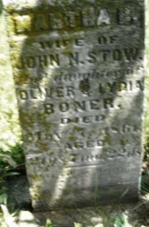 BONER STOW, MARTHA - Preble County, Ohio | MARTHA BONER STOW - Ohio Gravestone Photos