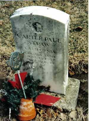 STRAW, CARTER PAUL - Preble County, Ohio | CARTER PAUL STRAW - Ohio Gravestone Photos