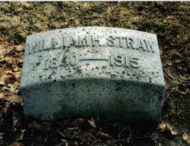 STRAW, WILLIAM H. - Preble County, Ohio   WILLIAM H. STRAW - Ohio Gravestone Photos