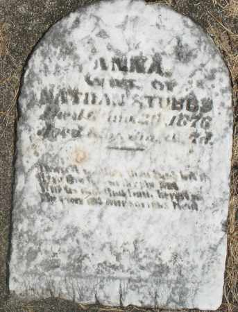 STUBBS, ANNA - Preble County, Ohio | ANNA STUBBS - Ohio Gravestone Photos