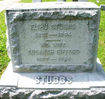 STUBBS, SUSANAH - Preble County, Ohio | SUSANAH STUBBS - Ohio Gravestone Photos