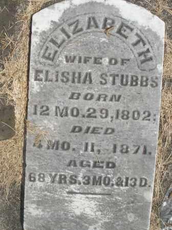 STUBBS, ELIZABETH - Preble County, Ohio | ELIZABETH STUBBS - Ohio Gravestone Photos