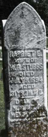 STUBBS, HARRIET E. - Preble County, Ohio | HARRIET E. STUBBS - Ohio Gravestone Photos