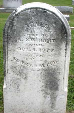SWIHART, AGNES - Preble County, Ohio | AGNES SWIHART - Ohio Gravestone Photos