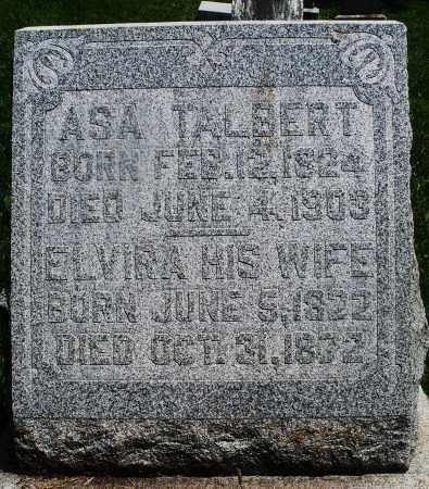 TALBERT, ELVIRA - Preble County, Ohio | ELVIRA TALBERT - Ohio Gravestone Photos