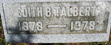 TALBERT, EDITH B. - Preble County, Ohio | EDITH B. TALBERT - Ohio Gravestone Photos