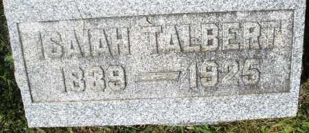 TALBERT, ISAIAH - Preble County, Ohio   ISAIAH TALBERT - Ohio Gravestone Photos