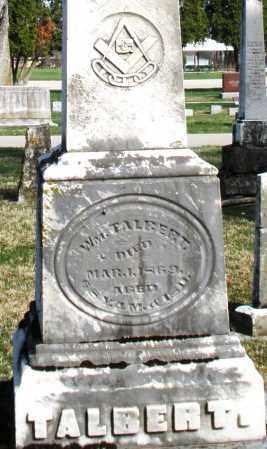 TALBERT, WILLIAM - Preble County, Ohio   WILLIAM TALBERT - Ohio Gravestone Photos