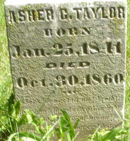 TAYLOR, ASHER G. - Preble County, Ohio | ASHER G. TAYLOR - Ohio Gravestone Photos