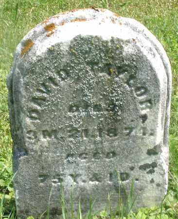TAYLOR, DAVID - Preble County, Ohio | DAVID TAYLOR - Ohio Gravestone Photos