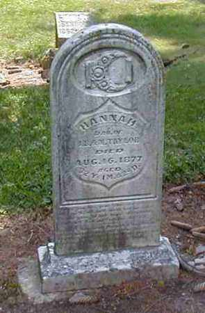TAYLOR, HANNAH - Preble County, Ohio   HANNAH TAYLOR - Ohio Gravestone Photos