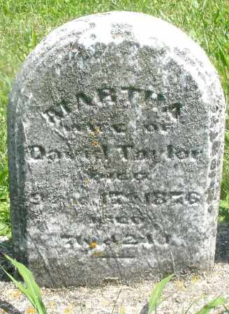 TAYLOR, MARTHA - Preble County, Ohio   MARTHA TAYLOR - Ohio Gravestone Photos