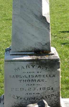 THOMAS, MARY A.T. - Preble County, Ohio   MARY A.T. THOMAS - Ohio Gravestone Photos