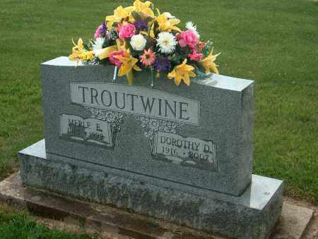 TROUTWINE, MERLE E - Preble County, Ohio | MERLE E TROUTWINE - Ohio Gravestone Photos