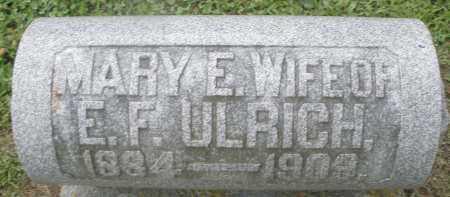 ULRICH, MARY E. - Preble County, Ohio | MARY E. ULRICH - Ohio Gravestone Photos