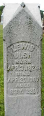 ULSH, LEWIS - Preble County, Ohio | LEWIS ULSH - Ohio Gravestone Photos