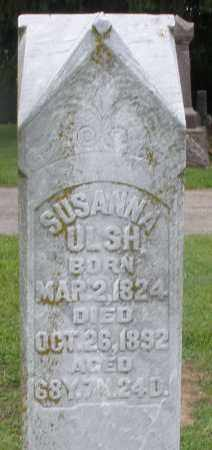 ULSH, SUSANNA - Preble County, Ohio | SUSANNA ULSH - Ohio Gravestone Photos