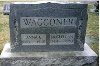 WAGGONER, MCCLELLAN - Preble County, Ohio | MCCLELLAN WAGGONER - Ohio Gravestone Photos